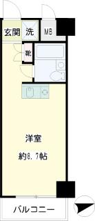 横浜市港北区の賃貸マンション NICハイム綱島第8 402号室 間取りです