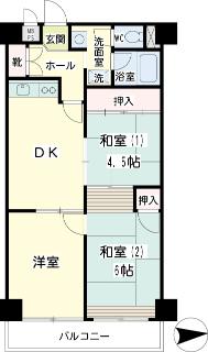 東京都大田区の賃貸マンション NICハイム多摩川 間取