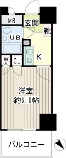 横浜市西区の賃貸マンション NICEアーバン横濱駅東館 410 間取