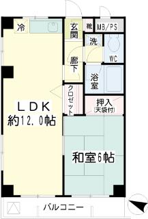 川崎市幸区の賃貸マンション 加賀見ビル 306号室 間取りです