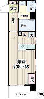東京都大田区の賃貸マンション ハイネス多摩川 408号室 間取りです