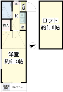 東京都大田区の賃貸マンション クレセント池上 207号室 間取り