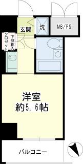 横浜市保土ヶ谷区の賃貸マンション ルネ和田町 516号室 間取