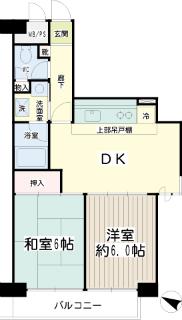 東京都大田区の賃貸マンション ソフトタウン大森 502号室 間取りです