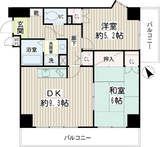 神奈川県横須賀市の賃貸マンション グラン・ベルデ 間取