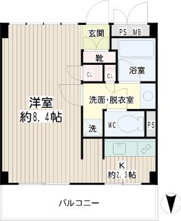 横浜市鶴見区の賃貸マンション 豊岡旭フーガ B102号室 間取りです