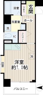 東京都大田区の賃貸マンション ハイネス多摩川 201号室 間取り