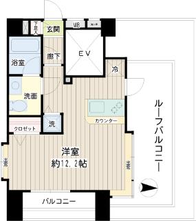 東急東横線武蔵小杉駅の賃貸マンション コルティーレ武蔵小杉 間取り