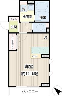横浜市鶴見区の賃貸マンション アリエッタコート 201号室 間取り