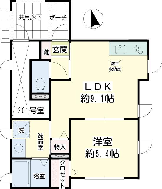 横浜市鶴見区の賃貸アパート Apricot House 間取り図