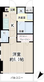 横浜市瀬谷区の賃貸マンション レジェンドスクエア三ツ境Ⅰ 202号室 間取りです