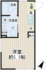 横浜市西区賃貸マンション リチェンシア横浜平沼301号室 間取