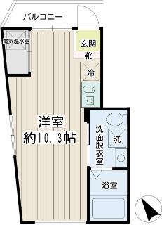 横浜市神奈川区の新築賃貸マンション リチェンシア横浜反町 間取
