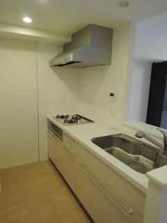 横浜市港北区の分譲賃貸マンション ナイスサンソレイユ日吉 204号室 キッチンです